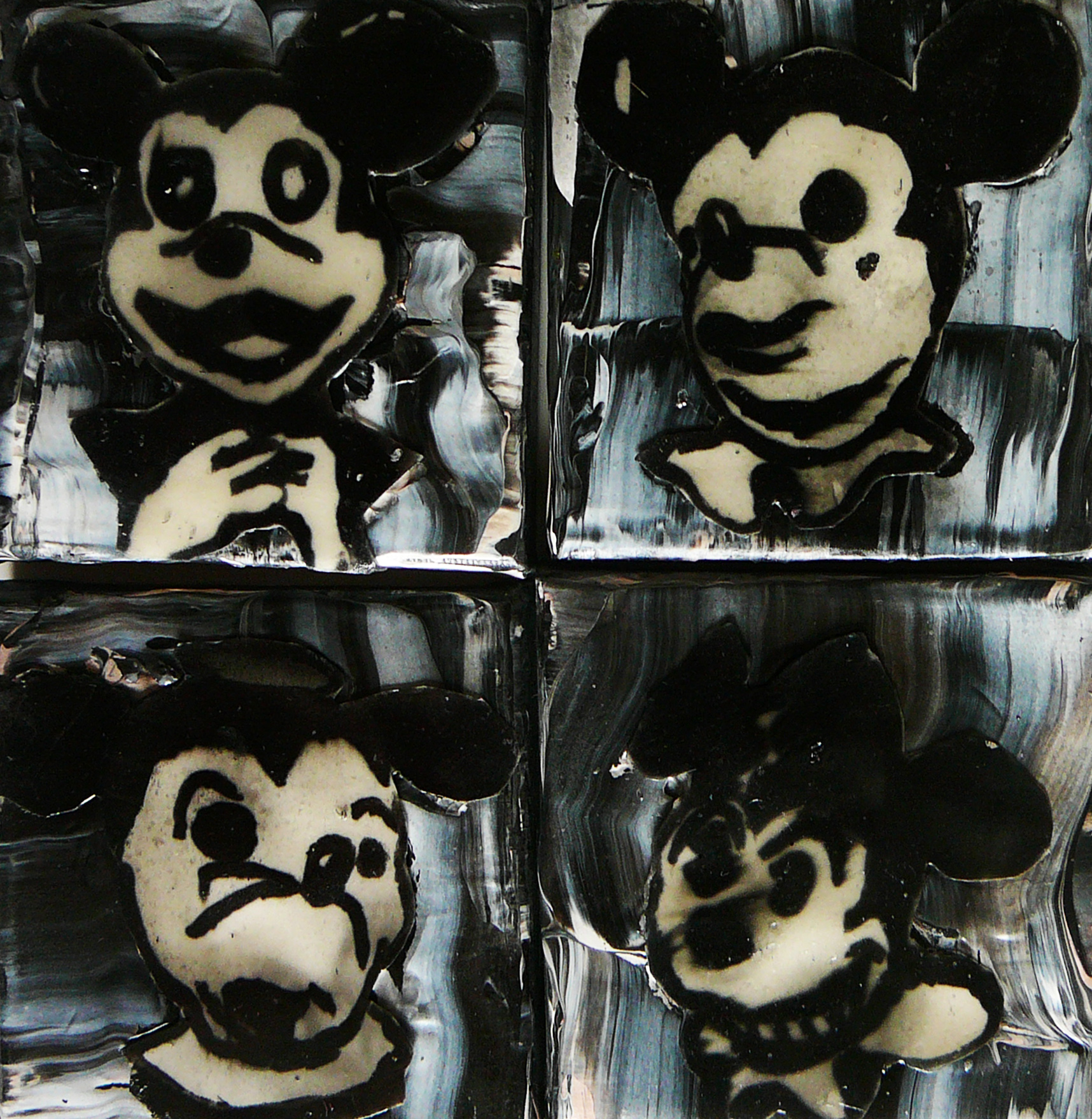 Four Mickey Masks